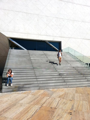 Casa da Música, Treppenaufgang zum Eingang