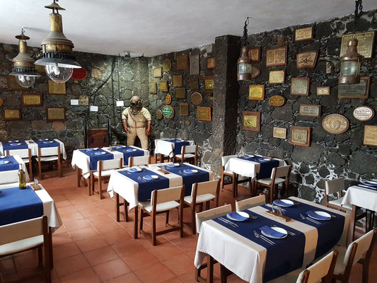 Restaurant im Hotel Punta Grande