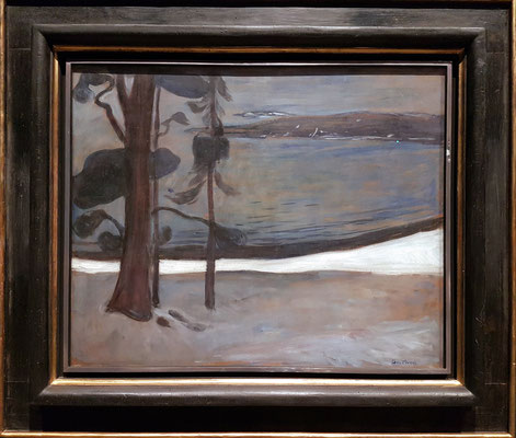 Edvard Munch (1863-1944, NO): Winter at North Beach, 1900-01 (Canica Kunstsamling, Oslo)