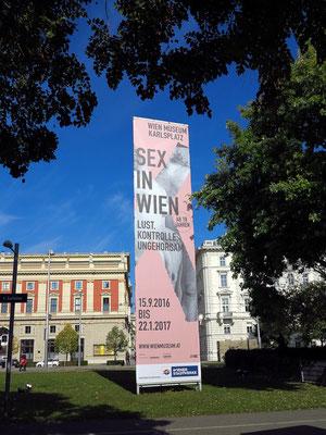 """Werbung für die Ausstellung """"Sex in Wien. Lust, Kontrolle, Ungehorsam"""" im Wien Museum"""