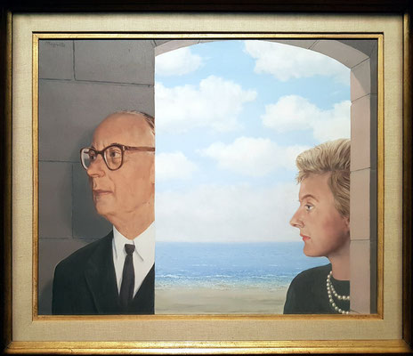 Portrait of Baron Joseph van der Elst and his daughter, 1962