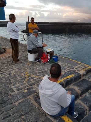 Im Hafen von Puerto de la Cruz