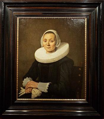 Frans Hals  (1580-1666): Bildnis einer sitzenden Dame, 1643, Öl auf Leinwand