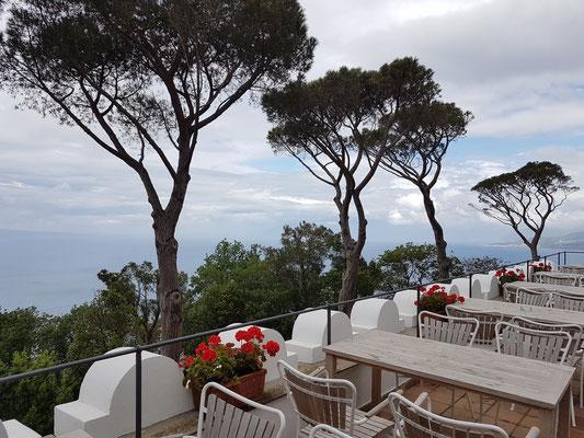 Café in der Villa San Michele