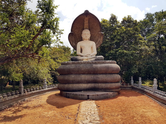 Teil eines kleinen Klosters am Pidurangala-Felsen