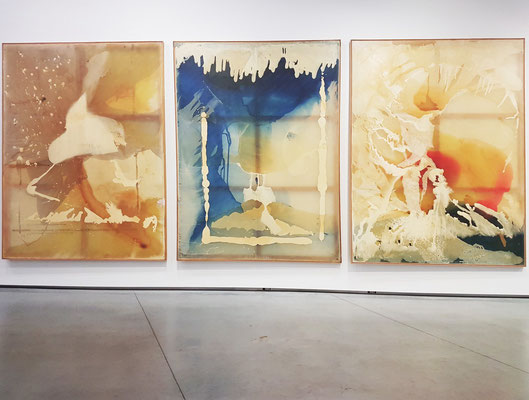 Sigmar Polke (1941-2010, Deutschland): Apparizione (1-3), 1992, Synthetic resin and lacquer on polyester