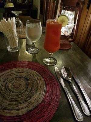 Restaurant Sooriya Village: frischer Papaya-Saft