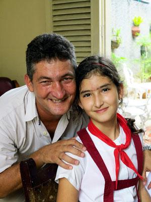 Vater Silvio mit seiner Tochter Diana