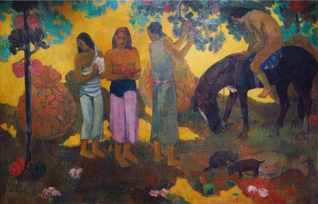 "Paul Gauguin (1848 - 1903): ""Tahiti ist ein wundervolles Land, Früchtesammlerinnen"", 1899"