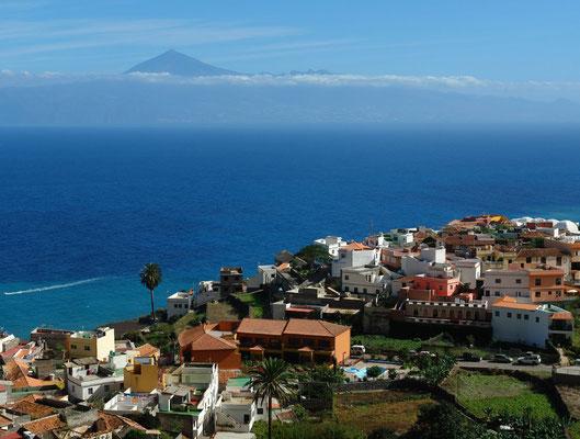 Agulo mit Blick auf den Pico de Teide