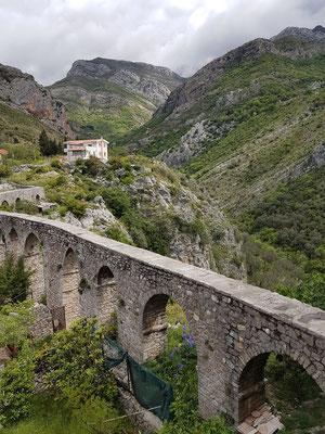 Stari Bar. Aquädukt aus der türkischen Zeit zur Trinkwasserversorgung (18. Jahrhundert)