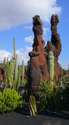 Im Jardín de Cactus, ehemaliger Steinbruch