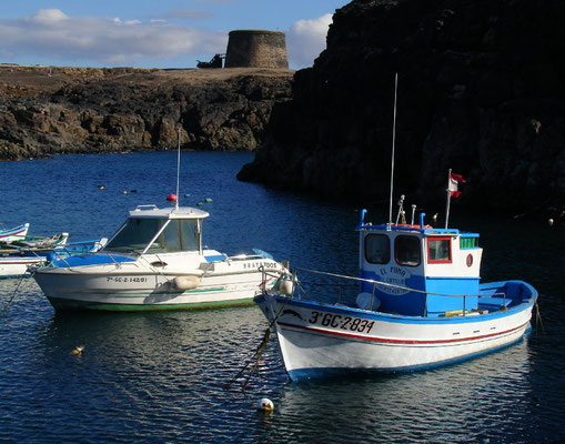 El Cotillo, Fischerboote im neuen Hafen