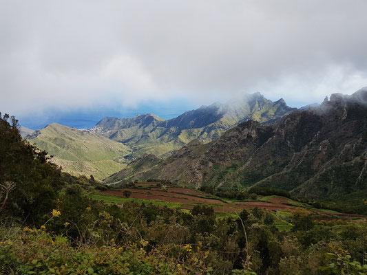 Anaga-Gebirge. Blick von der Cumbre nach S