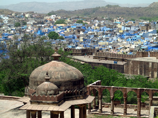 "Jodhpur, die ""blaue Stadt"", Blick vom Mehrangarh Fort"
