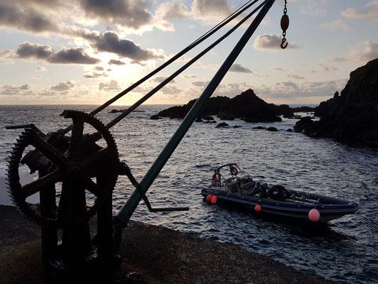 Unser Zodiac-Schlauchboot für die Überfahrt nach Corvo