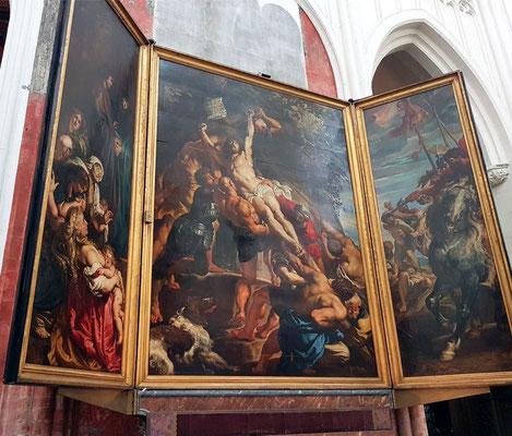 Rubens, Kreuzaufrichtung, 1610–1611, 462 × 640 cm, Öl auf Leinwand