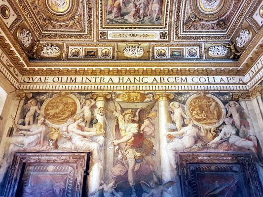 Sala Paolina aus dem 16. Jh., das schönste Papstgemach in der Engelsburg