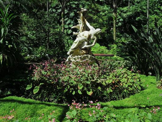 Botanischen Garten (Estufa Fria) unter freiem Himmel, mit Pflanzen aus verschiedenen Klimazonen der Welt