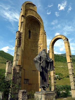 Denkmal für Sulchan-Saba Orbeliani, 1658-1725, georgischer Fürst, Mönch, Diplomat und Schriftsteller, Begründer der neugeorgischen Literatursprache
