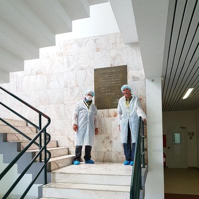 Besichtigung der Käsefabrik in Beira (União de Cooperativas Agricolas de Lacticínios de São Jorge)
