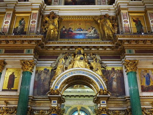 Isaakskathedrale, große Säulen aus Malachit