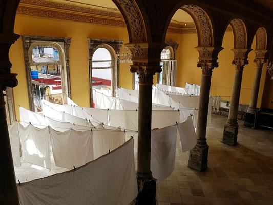 La Guarida, Obergeschoss mit der Wäsche des Restaurants