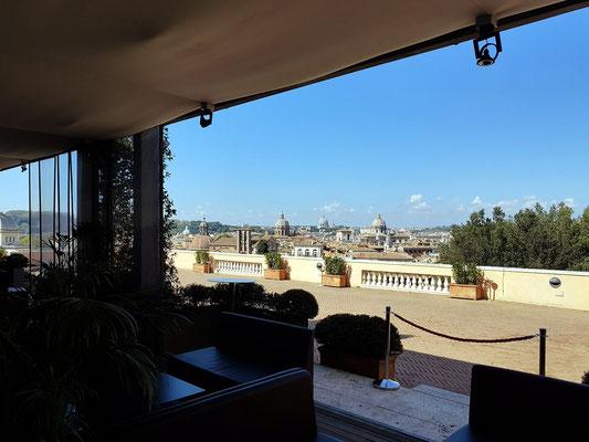 Blick aus dem Restaurant der Terrazza Caffarelli