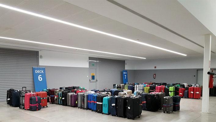 Gepäckaufbewahrung im Terminal für die Abreise