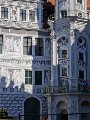 Residenzschloss Dresden, Schlosshof (Zustand während der Rekonstruktion 2021)
