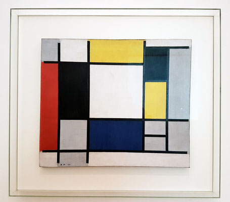Piet Mondrian: Composition with Blue, Yellow, Red, Black and Grey, Öl auf Leinwand, 1922