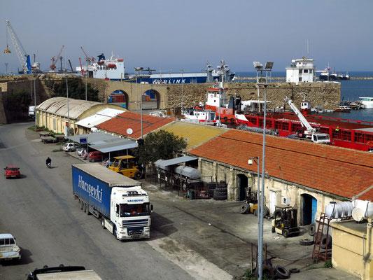 Hafen von Famagusta, Blick von der Stadtmauer