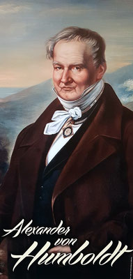 Alexander von Humboldt, der im Juni 1799 im Gebäude des heutigen Hotels Marquesa wohnte
