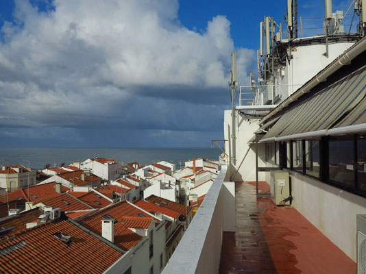 Nazaré. Blick vom 7. Geschoss des Hotels Maré