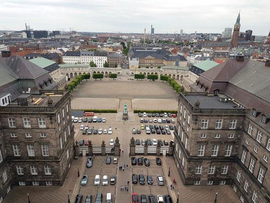 Blick vom Turm der Schlosskirche Christiansborg nach WSW