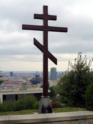 Hölzernes russisch-orthodoxes Kreuz