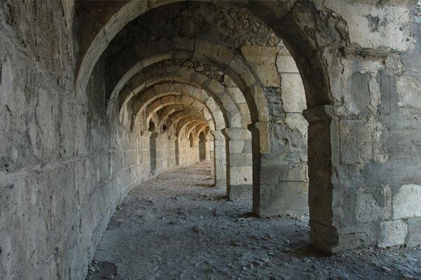 Römisches Theater von Aspendos, obere Galerie