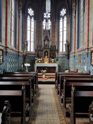 Mettlach, Kapelle St. Joseph, Ausgestaltung durch die Keramikfirma Villeroy & Boch
