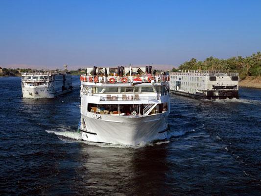 Zwei Kreuzfahrtschiffe im Kielwasser der Solaris II