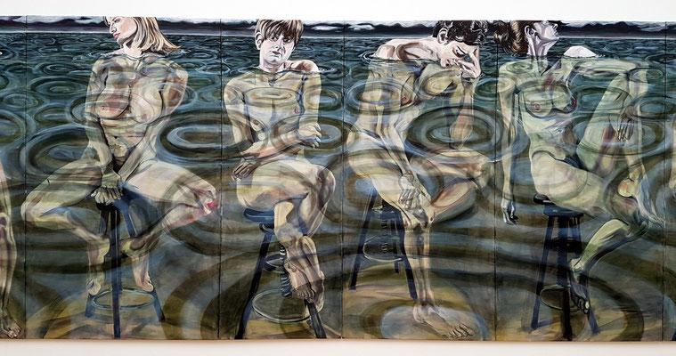 Jana Euler: After supper, Öl auf Leinwand, 2017 (Ausschnitt)