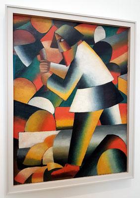 Kazimir Malevich: The Woodcutter, Öl auf Leinwand, 1912