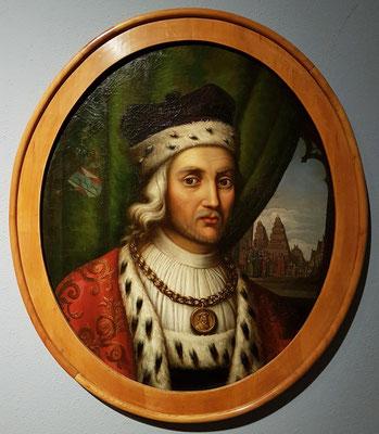 Georg Friedrich Bolte (1814-1877): Bildnis des Heinrich von Rubenow, 1856. Heinrich von Rubenow (um 1400-1462), Bürgermeister von Greifswald und treibende Kraft der Universitätsgründung