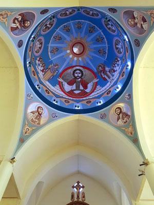 Koptisch Orthodoxe Kathedrale des Erzengels Michael, Blick in die Kuppel