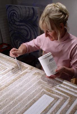 29.12.2002. MARRAKESCH - Mischtechnik auf Leinwand, 120 x 140 cm, 2003