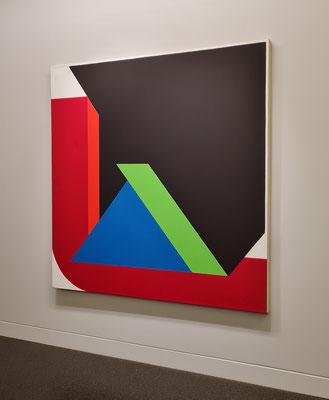 Georg Karl Pfahler (1926-2002): Espan Nr. 25 III, 1978/80, Acryl auf Leinwand) - (meine Hommage an Almut Rother)