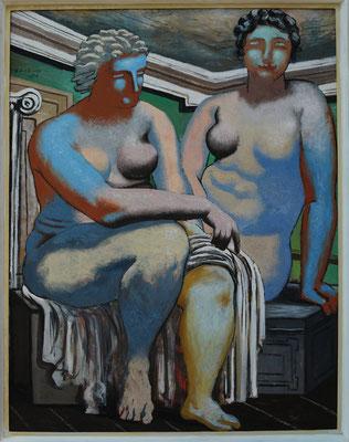 Giorgio de Chirico (1888-1978): Zwei sitzende Akte, 1926 (realistischere Malweise seit 1919)