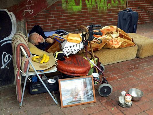 Obdachloser in der Hafenstraße