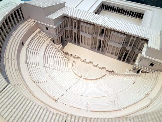 Modell des Römischen Theaters von Cartagena, erbaut zwischen 5. und 1. Jahrhundert v. Chr.