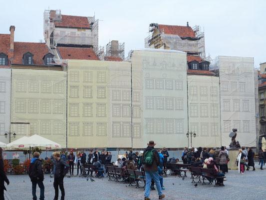 Marktplatz (Rynek Starego Miasta), Restaurierung der nordwestlichen Fassaden