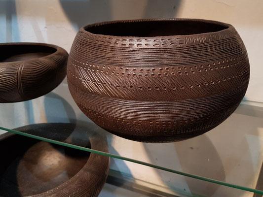 Reproduktionen der Keramikarbeiten der Ureinwohner in der Keramikwerkstatt von Ramón y Vina